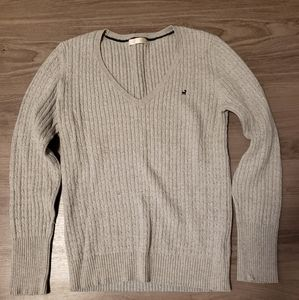 'Perfect Fit' Preppy Grey Knit Sweater